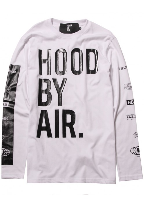 "HBA ""Large Letters And Trademark Printed"" Sweater (White)"