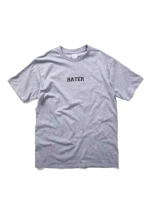 Hater Hate You Plain T-shirt (gray)