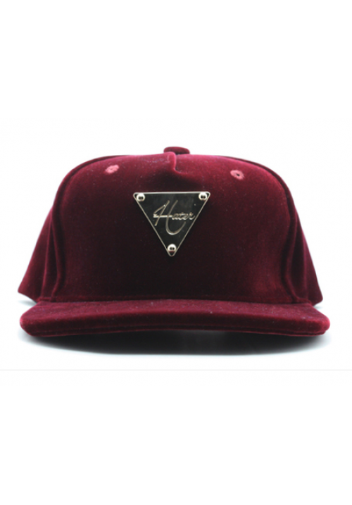 Hater Suede Classic Snapback Hat (Red)