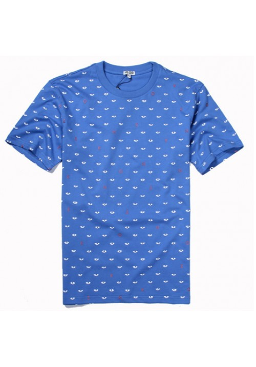 Kenzo All Over Eyes Letters T-Shirt (Blue)