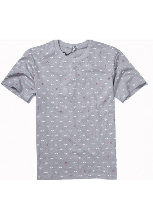 Kenzo All Over Eyes Letters T-Shirt (Gray)