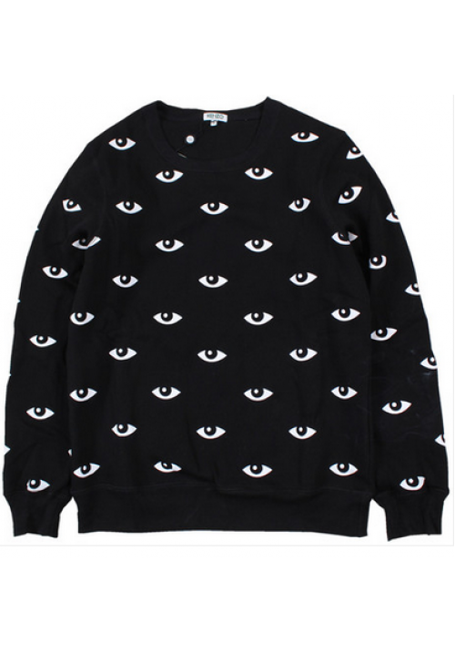 Kenzo All Over Eye Crewneck Sweater (Black)