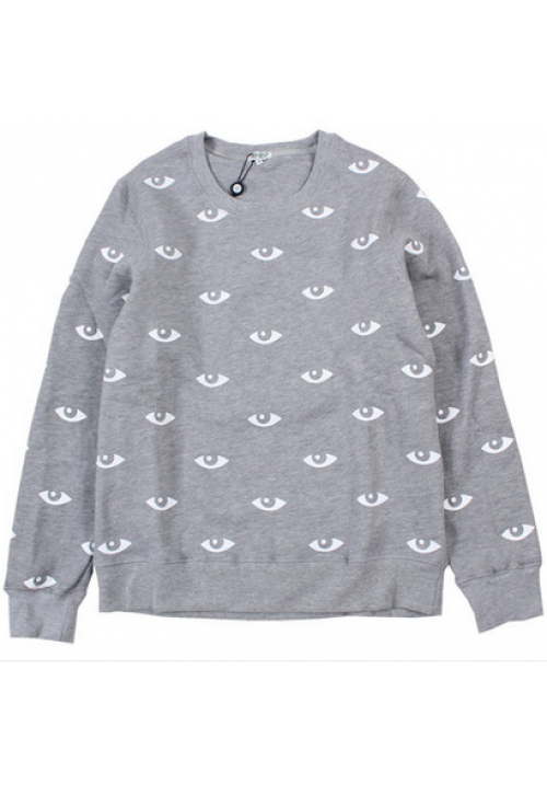 Kenzo All Over Eye Crewneck Sweater (Gray)