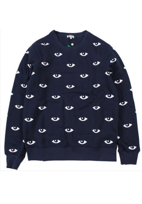 Kenzo All Over Eye Crewneck Sweater (Navy Blue)