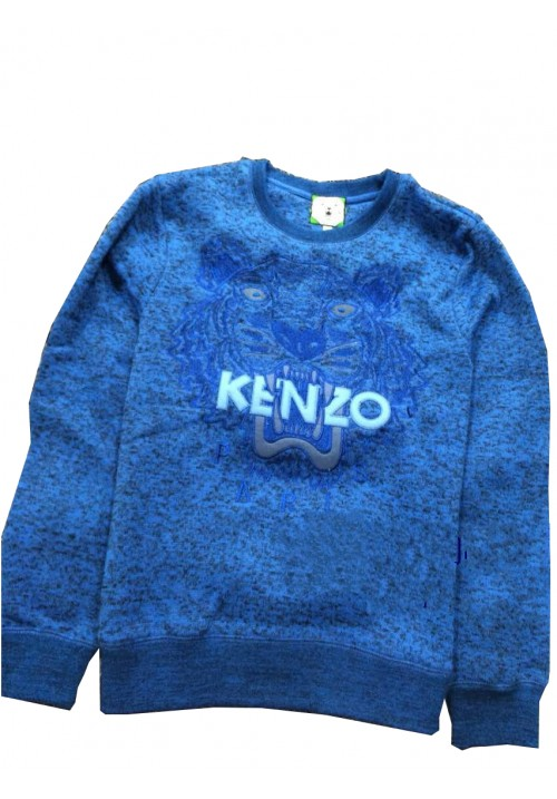 "Kenzo ""Knit Tiger Head Embroidery"" Sweater (Azure)"
