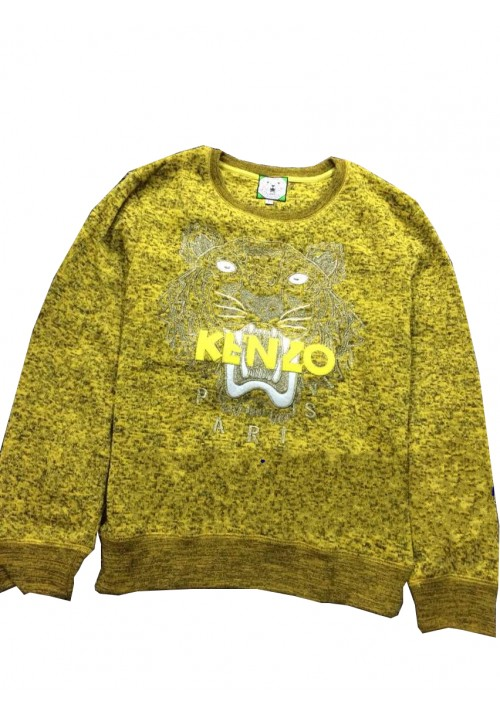 "Kenzo ""Knit Tiger Head Embroidery"" Sweater (Yellow)"