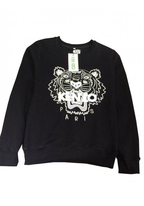 "Kenzo ""Tiger Head Letters Embroidery"" Sweater (Black)"