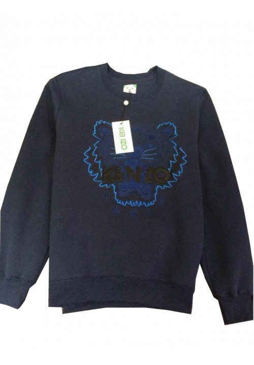 "Kenzo ""Tiger Head Letters Embroidery"" Sweater (Navy Blue)"