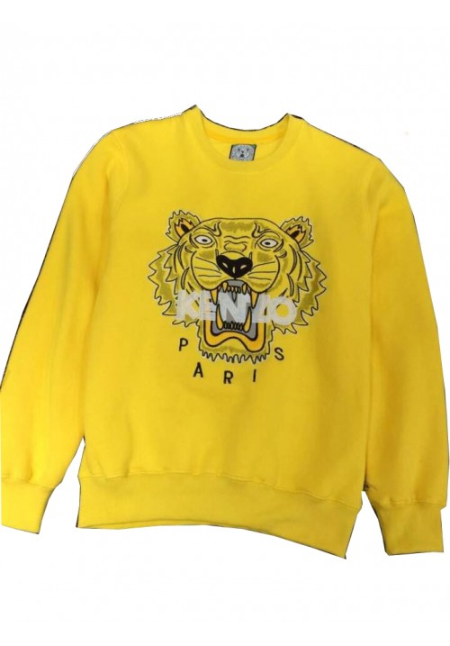 "Kenzo ""Tiger Head Letters Embroidery"" Sweater (Yellow)"