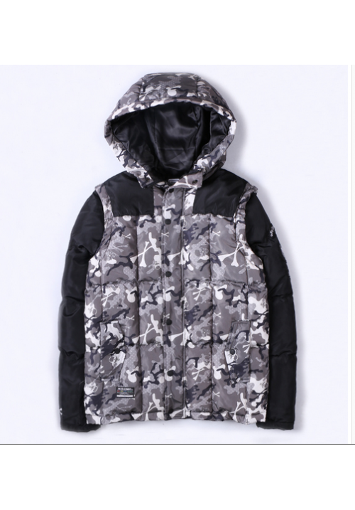 AAPE Padded Wind Jacket (Gray/Camo/Black)