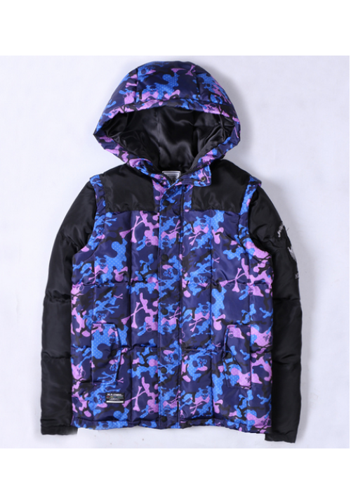 AAPE Padded Wind Jacket (Purple/Camo/Black)