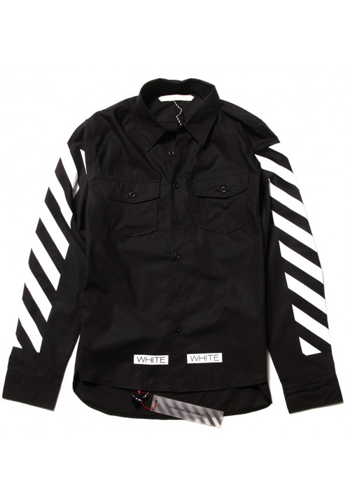 "Off White ""White Twill Printed"" Long Sleeves (Black)"
