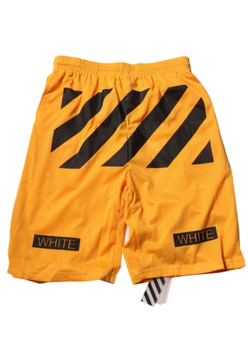 "Off White ""Black Twill Printed"" Beach Shorts (Yellow)"