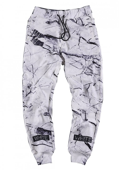 "Off-White ""Marble Cross"" Sweatpants (White)"