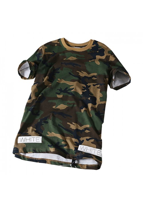 "Off-White ""Military Style 13 Printed Camo"" T-shirt (Green)"