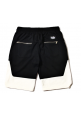 Remedy Black White Contrast Shorts