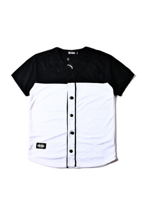 Remedy B-SS 13 Button Up Jersey Shirt (Black/White)