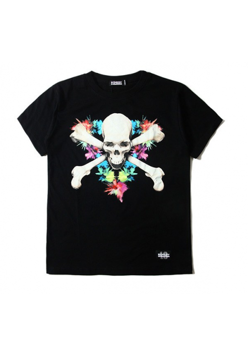 Remedy Cross Skull Floral T-Shirt (Black)