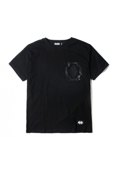 Remedy Paisley Monochrome Pocket T-Shirt (Black)