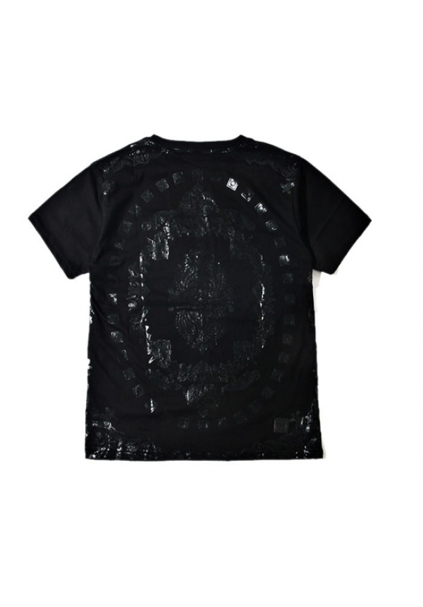 Remedy Paisley Monochrome Pocket T Shirt Black