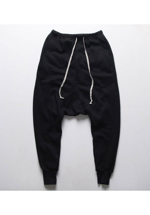 "Rick Owens ""Harem"" Drop Crotch Pants (Black)"