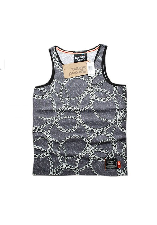 Standard and Grind Faded Sleeveless Shirt (gray)
