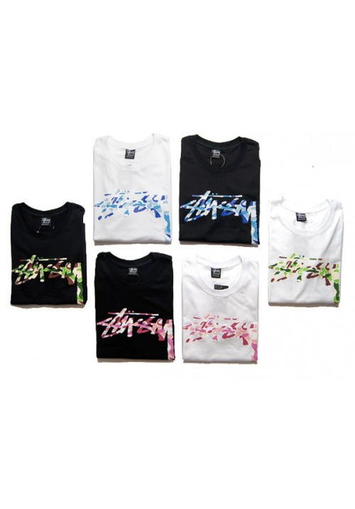 Stussy Camo Classic Script T-Shirt Collection