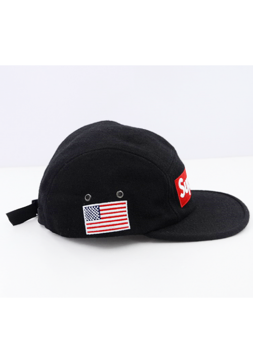 new arrival 9db6a 648f0 Supreme World Famous Wool Strapback Hat (Black)