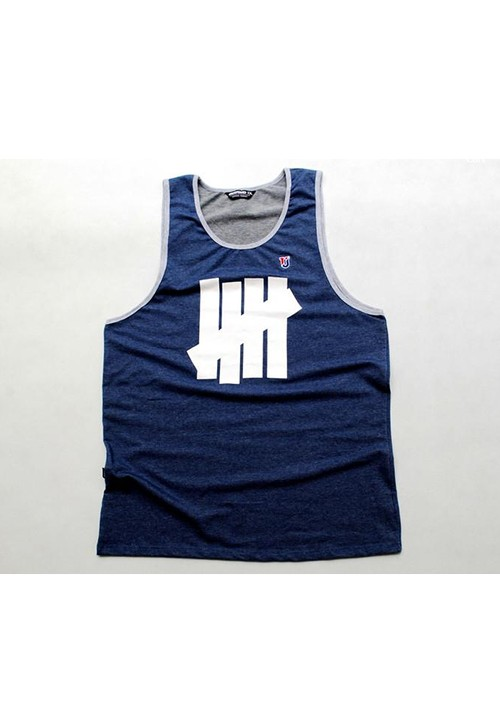 Undefeated Bars Sleeveless Shirt (dark blue)