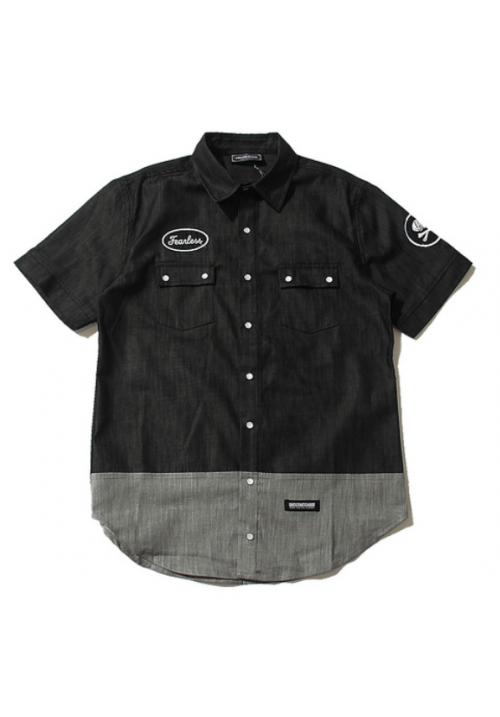 Underneighbor Fearless Button Up Shirt (Black)