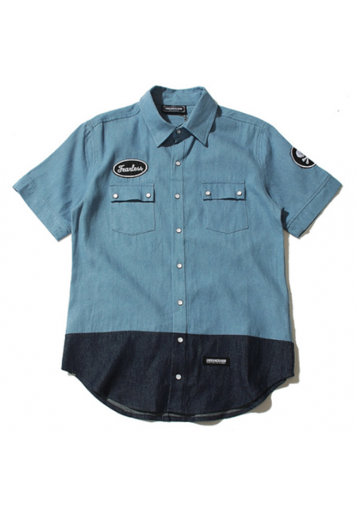 Underneighbor Fearless Button Up Shirt (Blue)