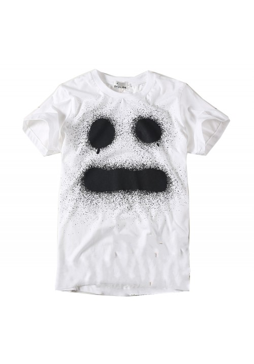 "Ghost  ""Comical Spoof Ghost Ink Printed"" T-shirt (White)"